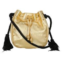 Philosophy Woman Shoulder bag  Gold Leather