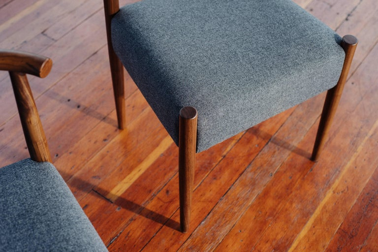 American Phloem Studio Harbor Chair, Handmade Modern Side Chair with Wood and Upholstery For Sale