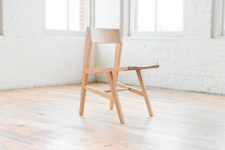 Phloem Studio Jess Side Chair, Modern Ebonized Oak Solid Wood Dining Chair In New Condition For Sale In Stevenson, WA
