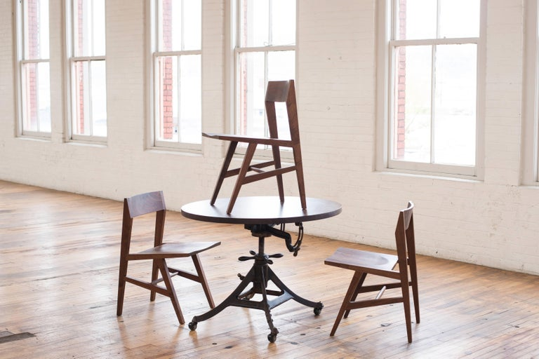 Phloem Studio Jess Side Chair, Modern White Oak Solid Wood Dining Chair For Sale 3