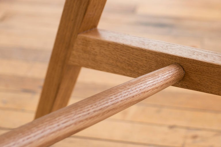 American Phloem Studio Jess Side Chair, Modern White Oak Solid Wood Dining Chair For Sale
