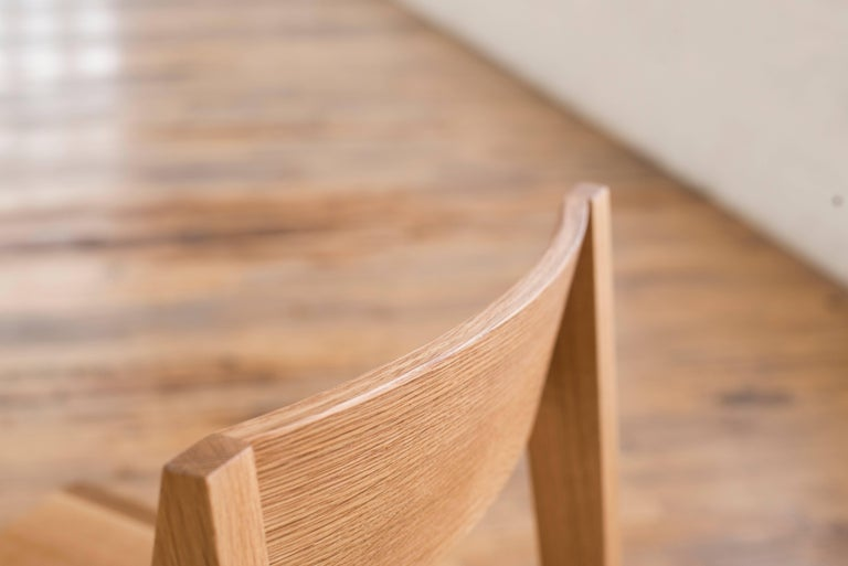 Turned Phloem Studio Jess Side Chair, Modern White Oak Solid Wood Dining Chair For Sale