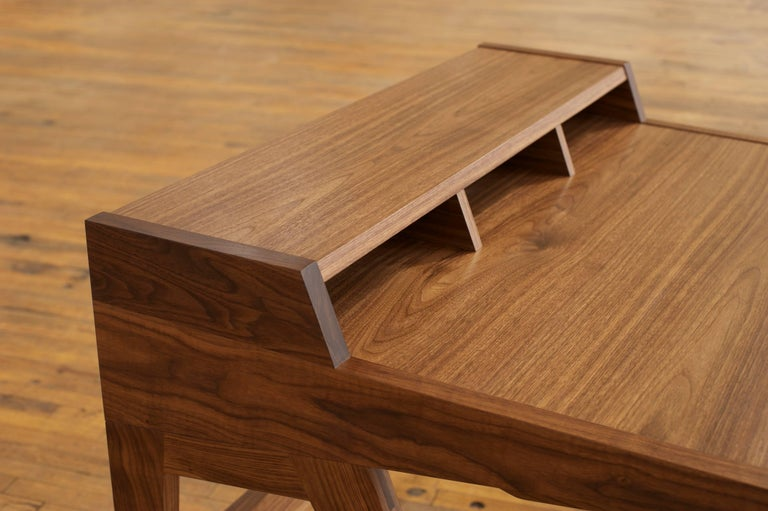 Phloem Studio Laura Desk, Handmade Modern Secretary Desk in Walnut or White Oak For Sale 1