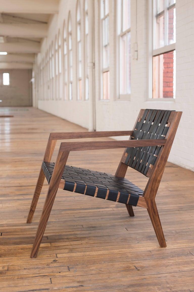 Phloem Studio Nadine Lounge Chair Modern Walnut And
