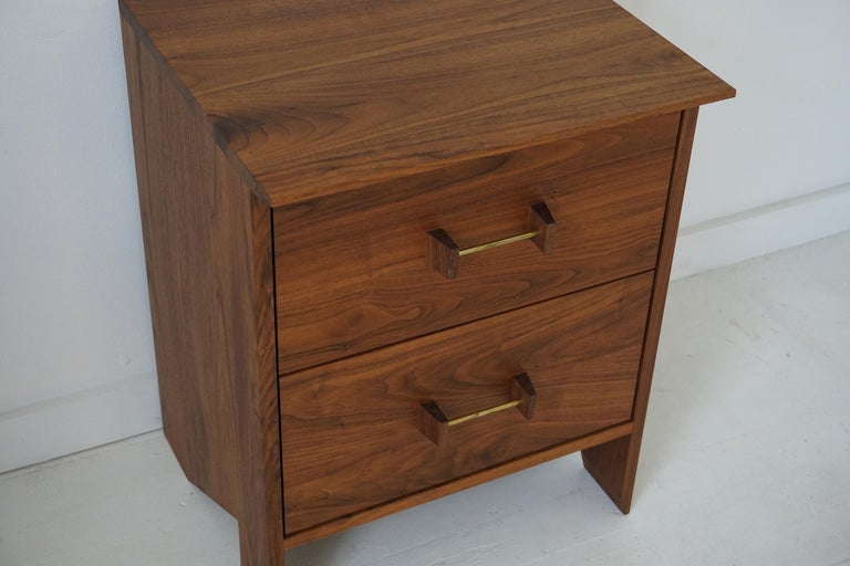 Organic Modern Phoebe Side Cabinet / End Table For Sale
