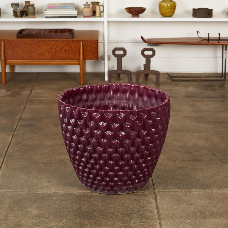 Mid-Century Modern Phoenix-1 Planter in Purple Glaze by David Cressey for Architectural Pottery For Sale