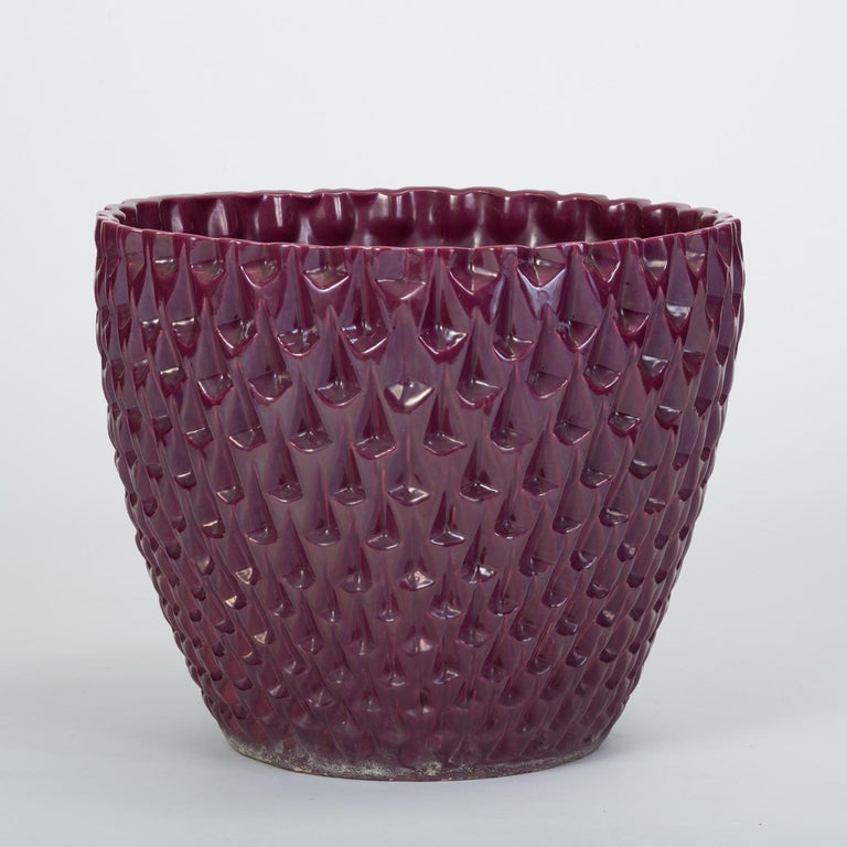 American Phoenix-1 Planter in Purple Glaze by David Cressey for Architectural Pottery For Sale