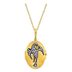Phoenix 22k Gold Locket with Diamonds