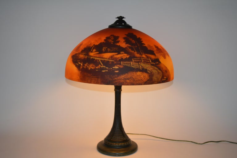 Phoenix sunset landscape table lamp,