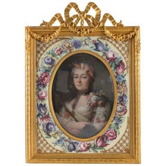 Photo Frame, Painting of an Elegant, 19th Century, Elegant in a Napoleon III