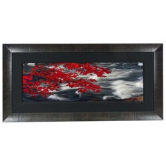 "Photo Le Art Photograph Large Peter Lik ""In The Clouds"", Red, Gray, White, Black"