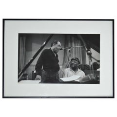 Photo of Jazz Greats Duke Ellington and Count Basie by Don Hunstein, 1961