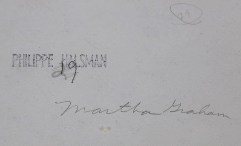 Painted Photograph Philippe Halsman of Martha Graham and Eric Hawkins For Sale