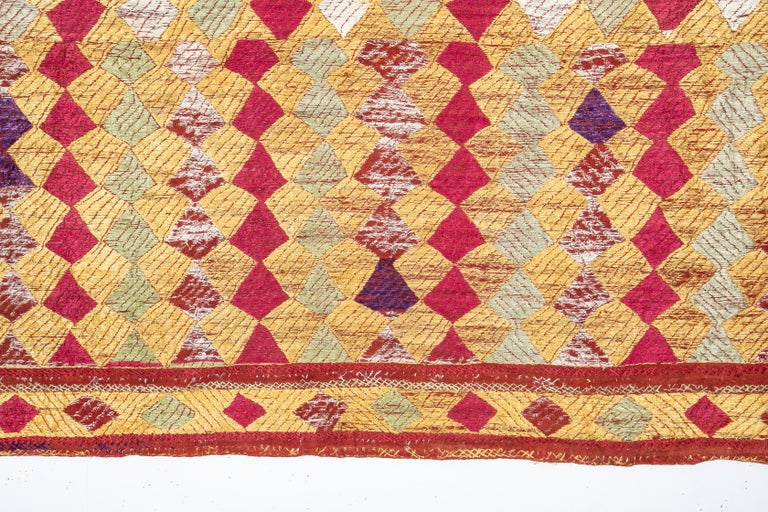Phulkari Wedding Shawl, India, Early 20th Century In Fair Condition For Sale In Istanbul, TR