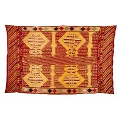 Phulkari Wedding Shawl, Silk Embroidery on Cotton, Early 20th Century