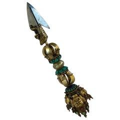 Phurba or Kila Wrathful Sacred Buddhist Sword