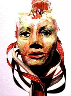 Mixed Media Mask -- Dahlia's Sister