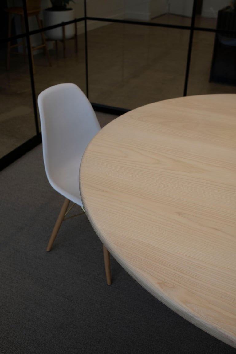 American 'Physalia' Round Table in Bleached Ash For Sale