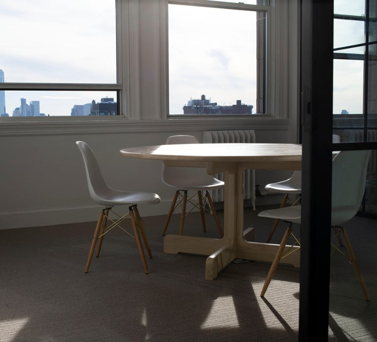 'Physalia' Round Table in Bleached Ash In New Condition For Sale In Brooklyn, NY