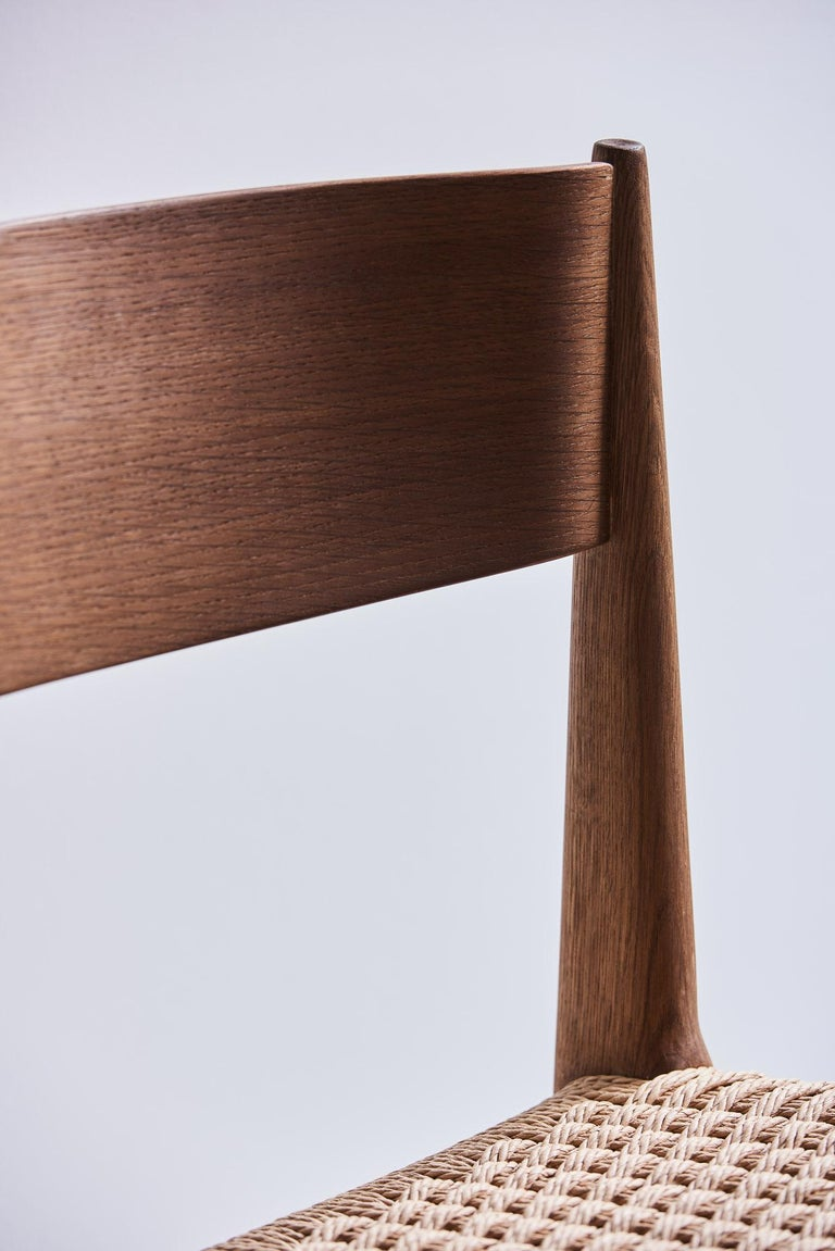 PIA Chair by Poul Codavius - Smoked Oak For Sale 4
