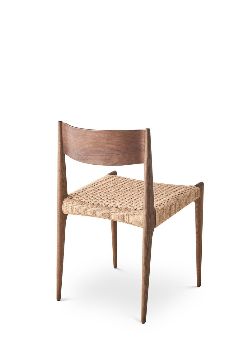 Scandinavian Modern PIA Chair by Poul Codavius - Smoked Oak For Sale
