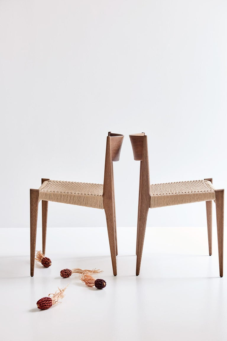 Danish PIA Chair by Poul Codavius - Smoked Oak For Sale