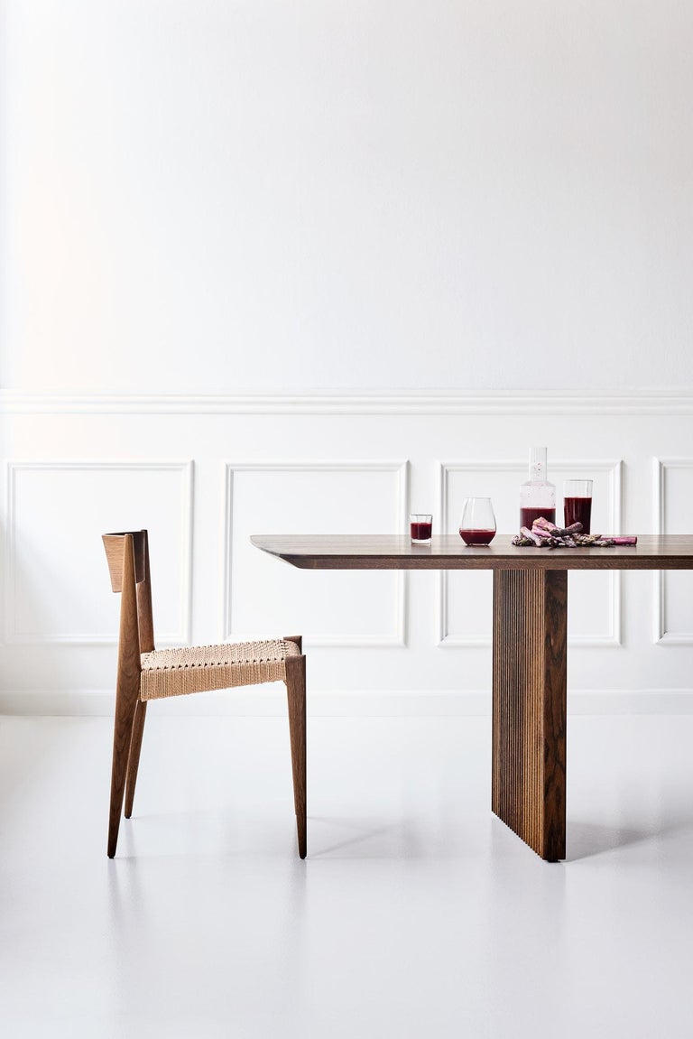 Contemporary PIA Chair by Poul Codavius - Smoked Oak For Sale
