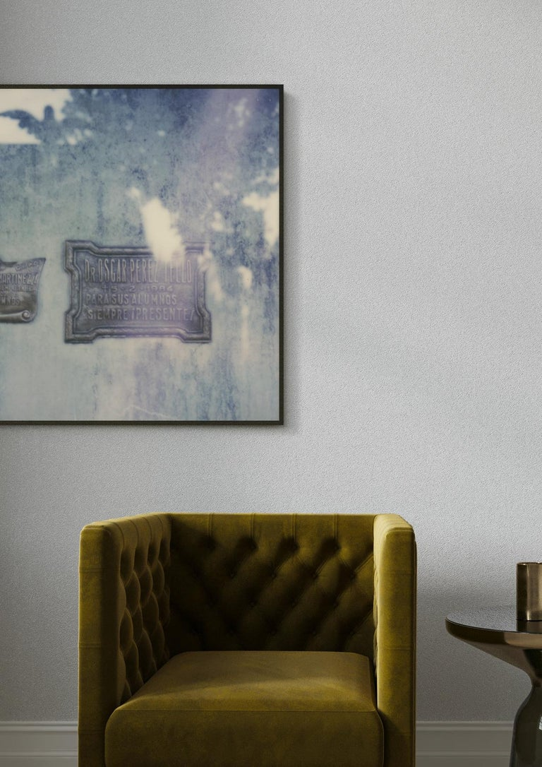 Buenos Aires - Still Life Photographic Print Framed by Pia Clodi  The blue tones within her work should not be interpreted as coldness, as her works are full of fleeting moments within her existence, and in fact invoke a warm sense of calm or