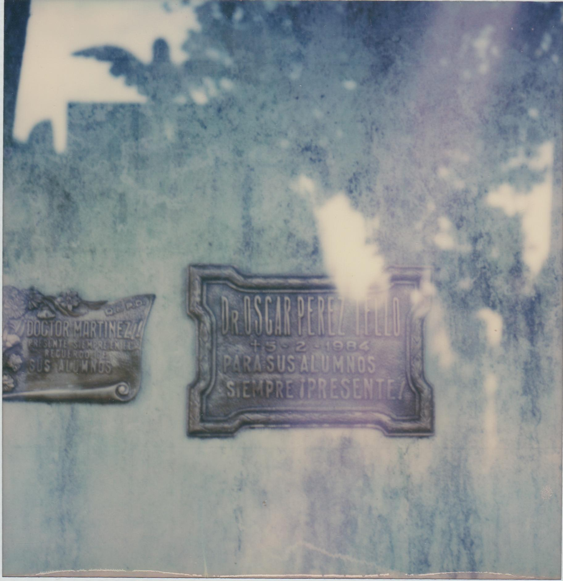Buenos Aires - Still Life Cyanotype Style Film Photographic Print Framed