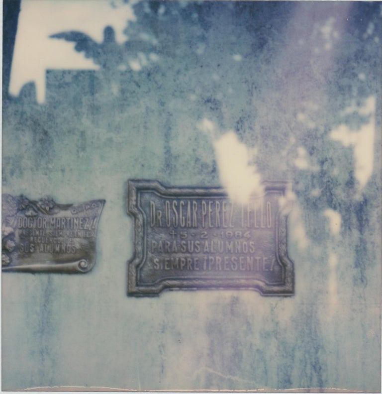 Pia Clodi Abstract Photograph - Buenos Aires - Still Life Cyanotype Style Film Photographic Print Framed