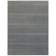 Pia, Contemporary Solid Hand Knotted Area Rug, Lt. Blue
