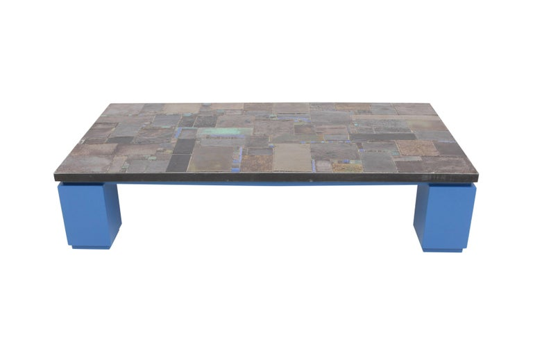 Ceramic tile coffee table by Pia Manu,