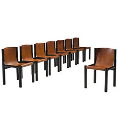 Pia Manu Original Patinated Cognac Leather Chairs