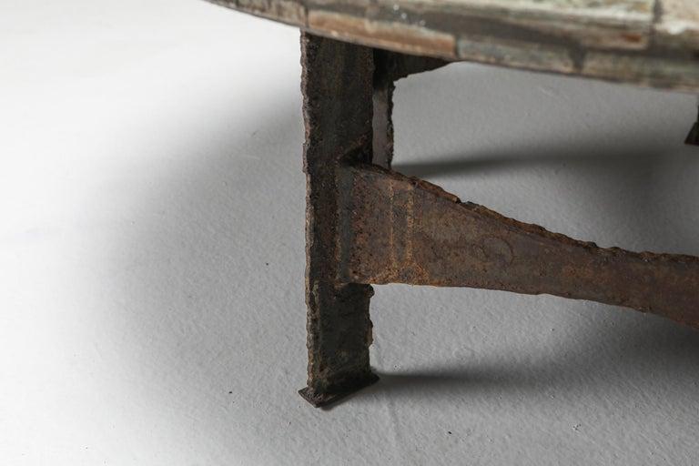 Pia Manu Round Slate Mosaic Coffee Table For Sale 2