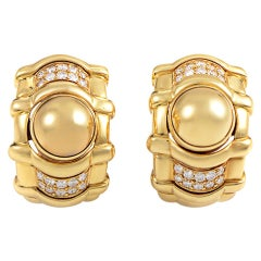 Piaget, 0.80 Carat Diamond Yellow Gold Huggie Earrings