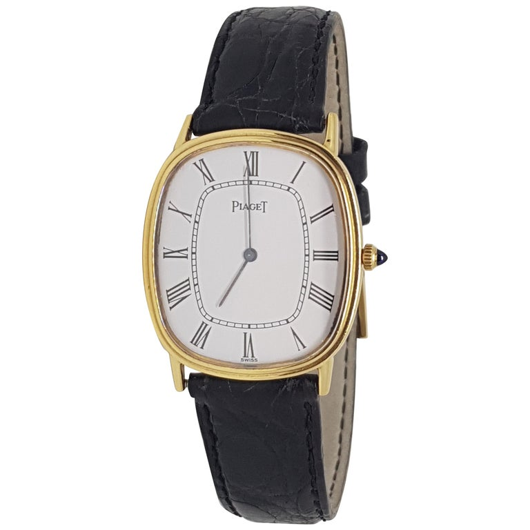 Piaget 18 Carat Yellow Gold Classic Men's Manual Wristwatch For Sale