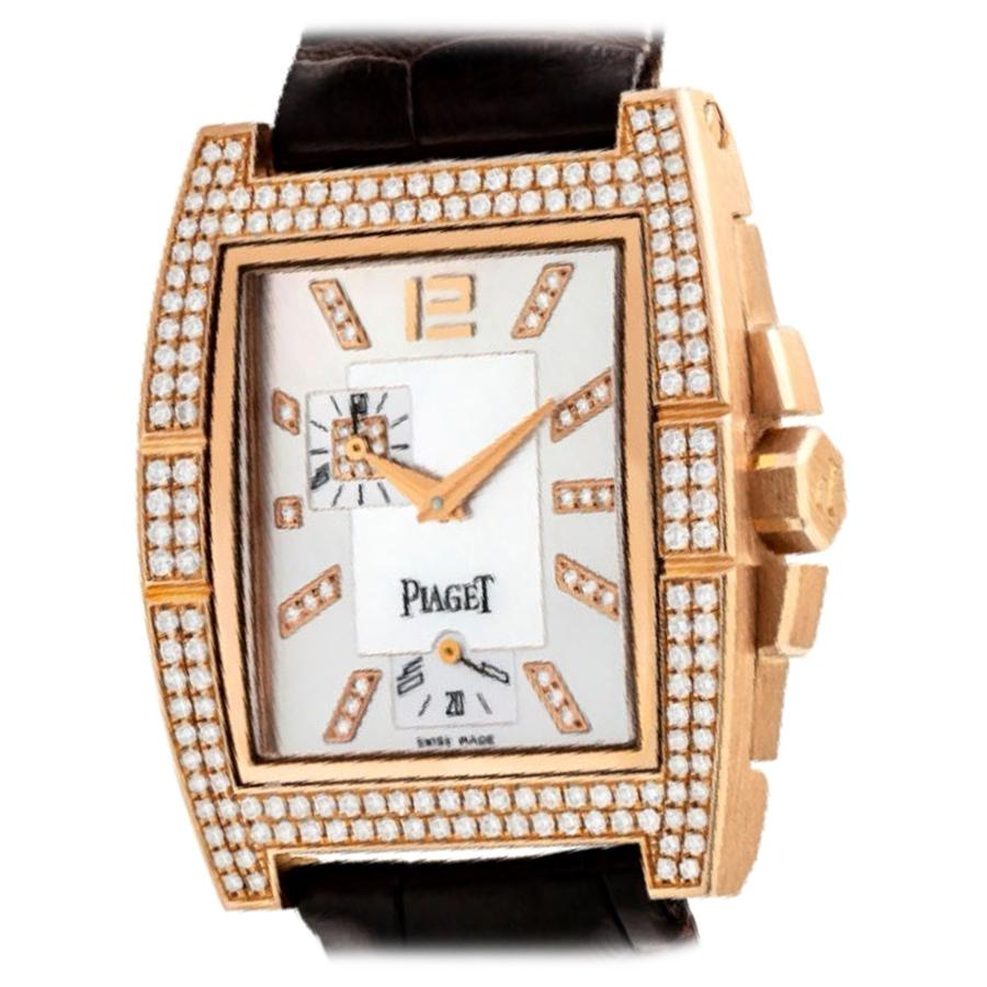 Piaget 18 Karat Diamond Watch with Mother of Pearl Dial