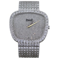 Piaget 18 Karat White Gold and Diamond Wristwatch