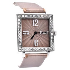 Piaget 18 Karat White Gold Diamond Altiplano Ladies Quartz
