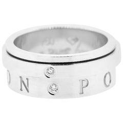 Piaget 18 Karat White Gold Possession 2 Diamonds Movable Ring