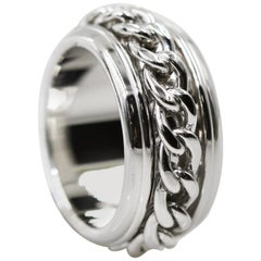 Piaget 18 Karat White Gold Possession Chain Movable Ring