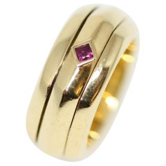 Piaget 18 Karat Yellow Gold and Ruby Possession Ring