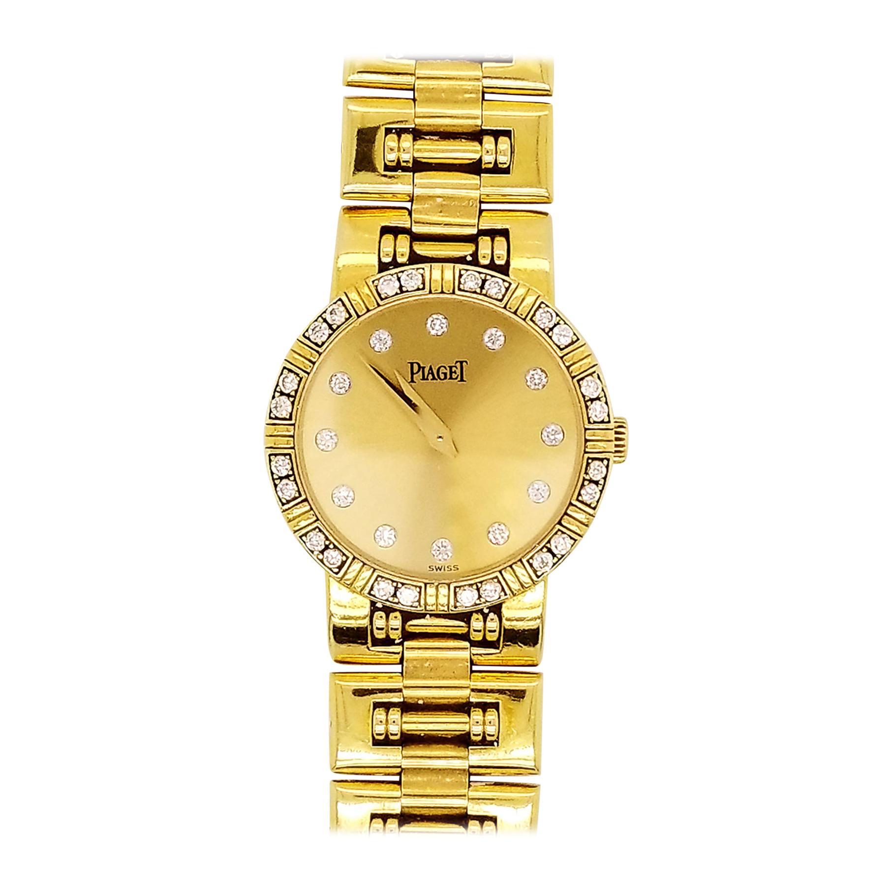 Piaget 18 Karat Yellow Gold Diamond Dancer Women's Wristwatch