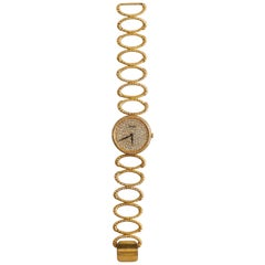 Piaget 18 Karat Yellow Gold Full Diamond Dial Lady Watch