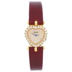 Piaget 18 Karat Yellow Gold Heart Shaped Watch