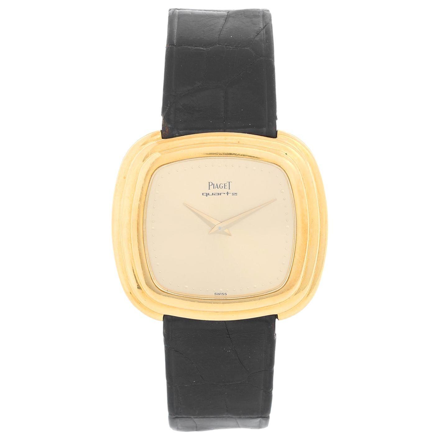 Piaget 18 Karat Yellow Gold Men's Quartz Watch
