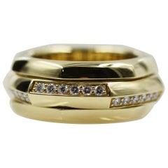 Piaget 18 Karat Yellow Gold Movable Ring with 42 Diamond VVS1