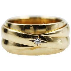 Piaget 18 Karat Yellow Gold Possession Movable Diamond Ring
