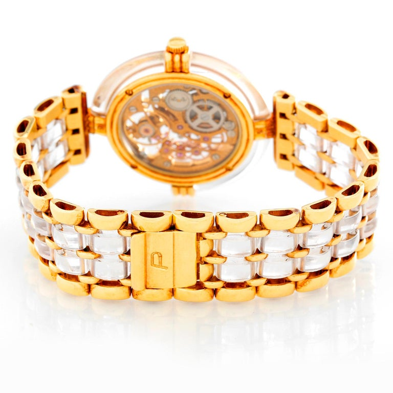 Piaget 18 Karat Yellow Gold Skeleton Watch In Excellent Condition For Sale In Dallas, TX