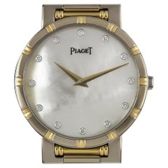 Piaget 18k White Gold and 18k Yellow Gold Mother of Pearl Diamond Dial 84023K81